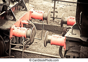 train coupling - vintage steam train carriage coupling...