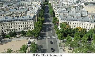 Arc de Triomphe skyline of Paris skyline from top of Arch of...