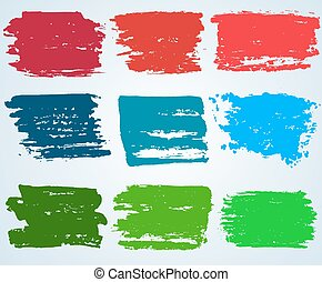 Paint brush banner colorful background. vector
