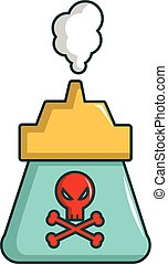 Kill pest gas icon, cartoon style