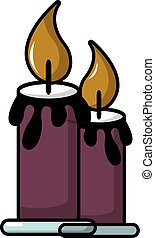 Funeral candles icon, cartoon style - Funeral candles icon....
