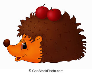 Hedgehog - Childish illustration of hedgehog