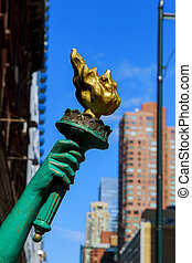 Torch and hand of the Statue of Liberty