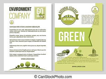 Vector poster for nature environment ecology