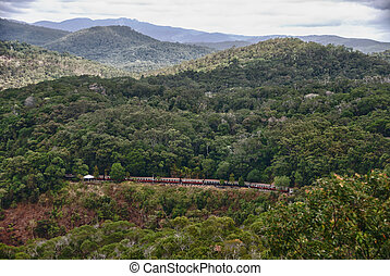 Aerial View of Kuranda-Cairns Train, Queensland