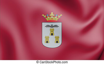 Albacete-Bandera - 3D Flag of Albacete City, Spain. 3D...