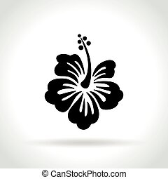 hibiscus icon on white background