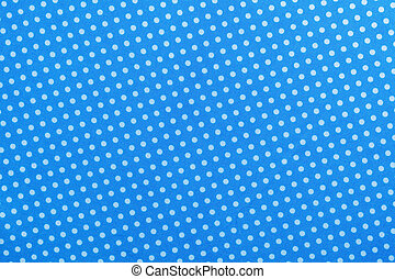 Blue polka-dot cotton table cloth directly above.