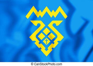 Togliatti - 3D Flag of Tolyatti (Samara Oblast), Russia. 3D...