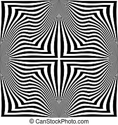 373-21 - Seamless Square Pattern. Abstract Monochrome...