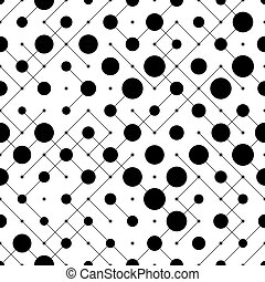 Seamless Circle and Line Pattern. Vector Regular Texture