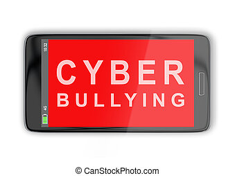 Cyber Bullying concept - 3D illustration of 'CYBER BULLYING'...