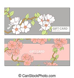 Beautiful flowers on a light background - Flowers on a gift...