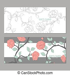 Gift card with delicate flowers