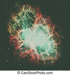 Crab Nebula is a remnant of a star's supernova explosion. -...