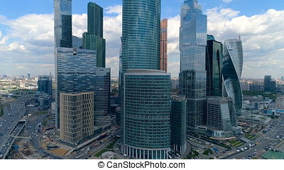 Magnificent view of Moscow International Business Center.