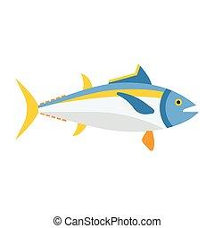 Blue Tuna Fish Icon