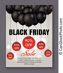 Black friday sale event poster. Season discount offer...
