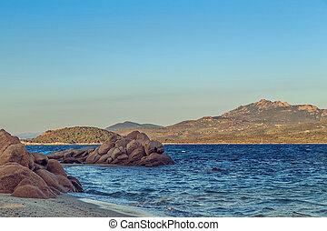 Capriccioli beach in Costa Smeralda. - Capriccioli beach in...