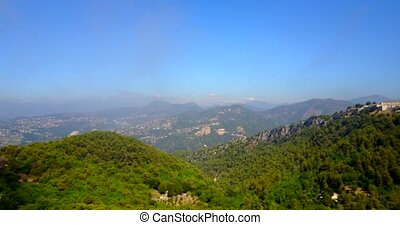 Aerial view of Alpes-Maritime, southern France....