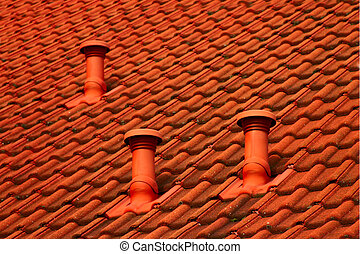 tiled roof background