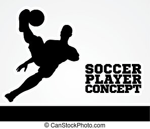 Soccer Football Player Concept Silhouette - An illustration...