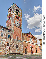 Colle di Val d'Elsa, Siena, Tuscany, Italy: the medieval...