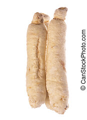 Sugar Ginseng Roots Macro Isolated - Isolated macro image of...