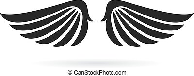 Bird wings vector icon isolated on white background