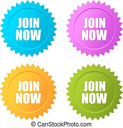Join now star sticker - Join now stars stickers set
