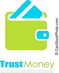 Trust money finance vector logo