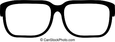 Eye glasses vector icon isolated on white background
