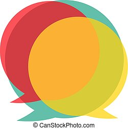 talk bubble illustration - colorful talk bubble icon....