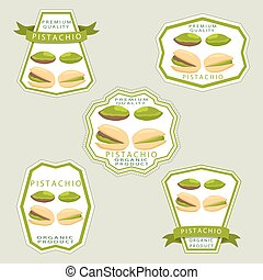 The theme pistachio - Abstract vector illustration logo...