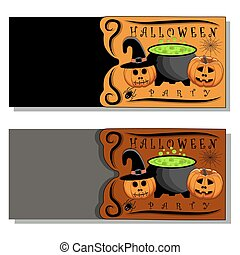 The theme Halloween - Abstract vector illustration of logo...