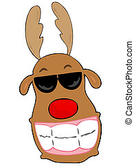 Smiling reindeer.