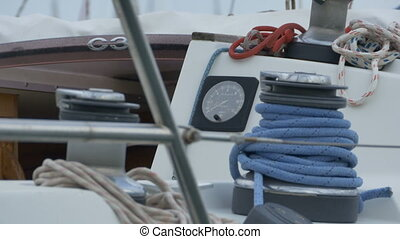 Nautical Gauge and Ropes - Blue hawsers and nautical gauges...