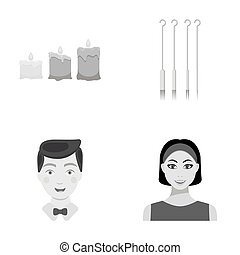 cosmetic, leisure, business and other web icon in monochrome...