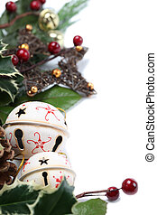 Jingle bell and star border