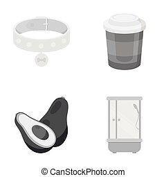 hyena, rest, businessns, and other web icon in monochrome style.cubicle, sanitary ware icons in set collection.