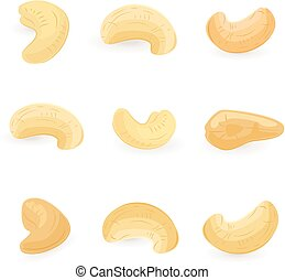 collection of cashews for your design