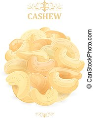 banner with fresh cashews for your design