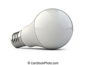 Energy efficiency LED light bulb. Power saving lamp.
