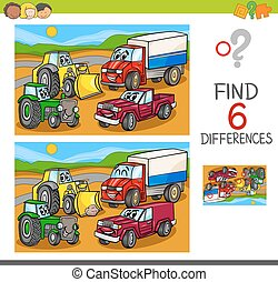 spot the differences with cars and vehicles