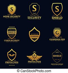 Set of Shield logo. Protection company. Security. Guardian....