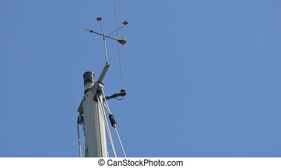 Ship Mast With Anemometer - Wind speed and direction devices...