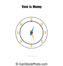 The clock and time is money concept,long term financial...