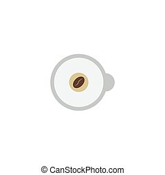 Flat Icon Espresso Element. Vector Illustration Of Flat Icon Cappuccino Isolated On Clean Background. Can Be Used As Cappuccino, Espresso And Coffee Symbols.