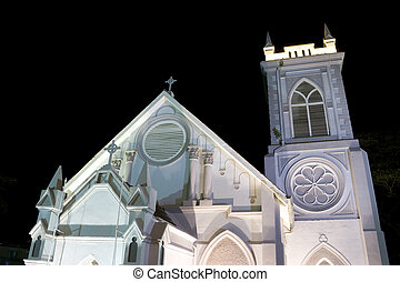 Wesley Methodist Church Georgetown - Night image of Wesley...