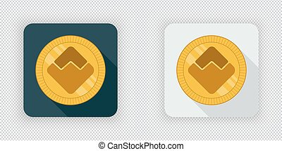 Light and dark Waves crypto currency icon - Light and dark...